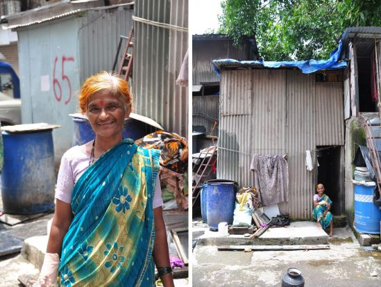 Vasanta is 59 years old and lives with her husband, who is a daily wage worker. She arrived there with her parents as a kid.