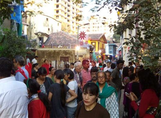 Khotachiwadi Christmas Fair. Chawls, bungalows, and active community spaces, along with a myriad of cultural identities, all co-exist here.