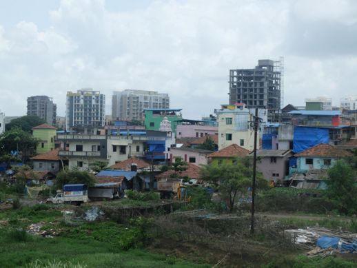 Image 5: View of Boman Dongri situated on a higher altitude with new buildings in the background