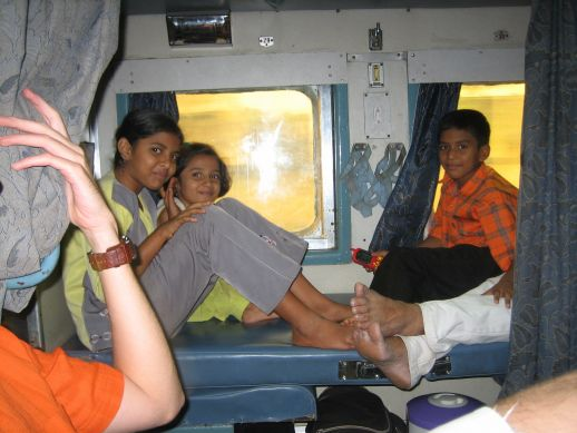 From Mumbai to Chiplun on the Konkan Railways.