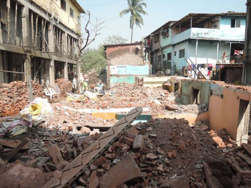 Demolition of the existing chawl in December to rebuild a new one.