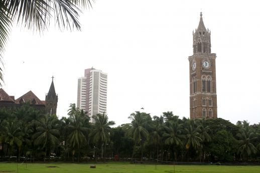 The Rajabai Clock Tower viewed from the 'Victorian side' of the Oval Maidan