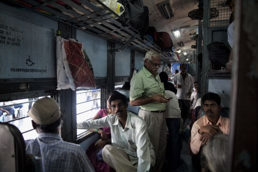 Indian trains augmenting the constant movement between cities, towns and villages.