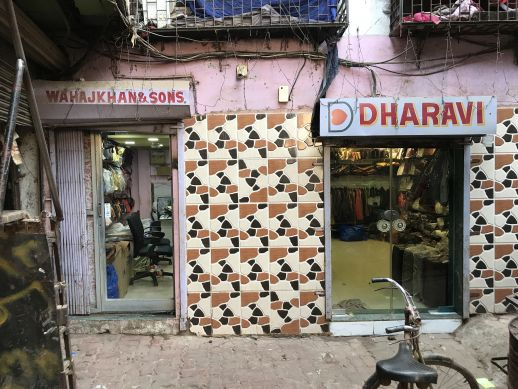 The famous leather shops of Dharavi