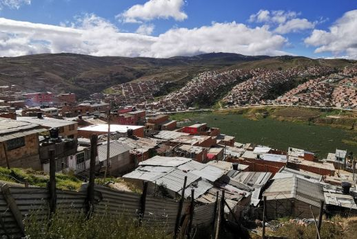 Homegrown settlements in the eastern periphery of Bogota city.