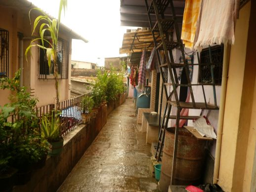 A homegrown neighbourhood in Bhandup, Mumbai, where Sunita's brother and children live.