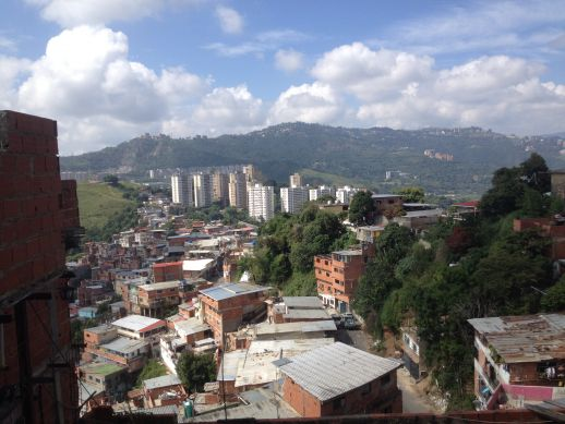 "View of the formal city from the top of the ""Cerro"""