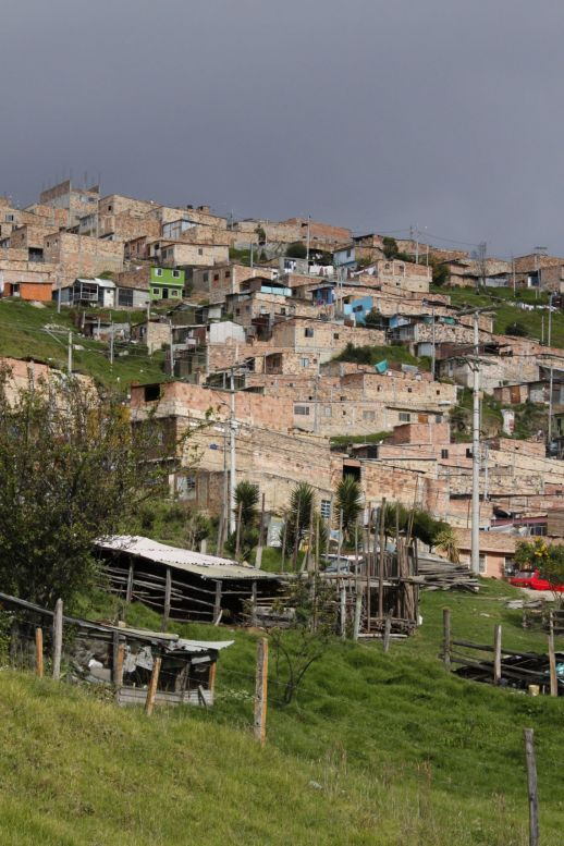 """Village city"" of Nuevo Usme enveloped as the 5th locality of the Capital District of Bogotá, southern periphery of the city."