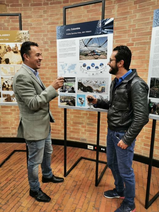 Hector Alvarez and Andres Sanchez in the Project Poster Exhibition