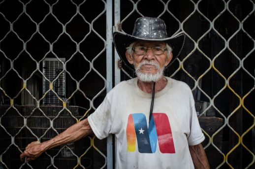 "Popularly known as ""Cheo"" he migrated to Venezuela due to violence in his native Colombia in the late 60's, he lived in various places in Caracas until he settled in San Blas in the late 1970's. Photograph by Stephanie Marcelot"