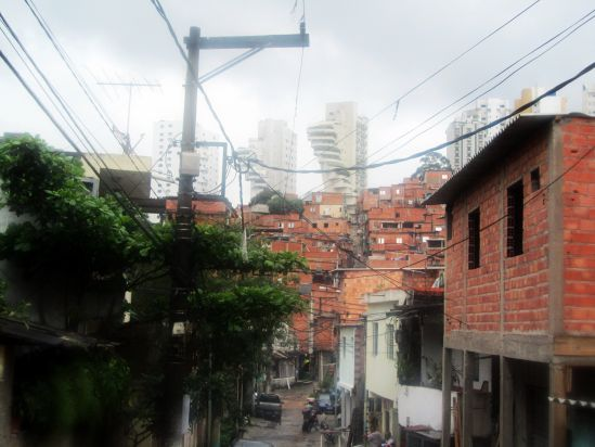 Paraisopolis (Sao Paulo) viewed from the street.